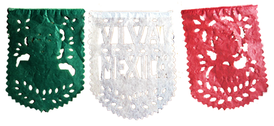 Papel picado banner png. Independence day