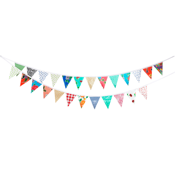 Papel picado banner png. Paper bunting child party