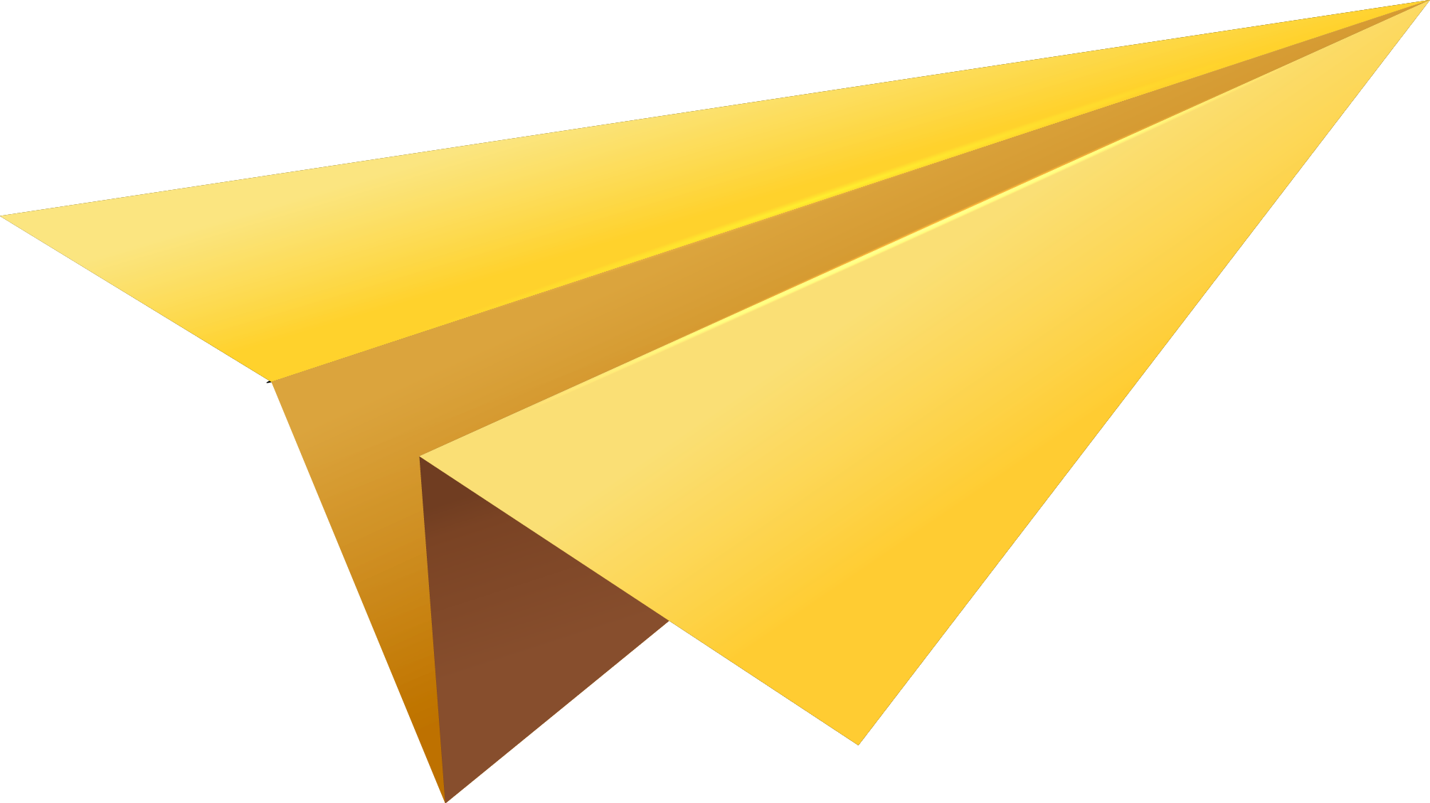 Paper airplane png. Yellow plane image purepng
