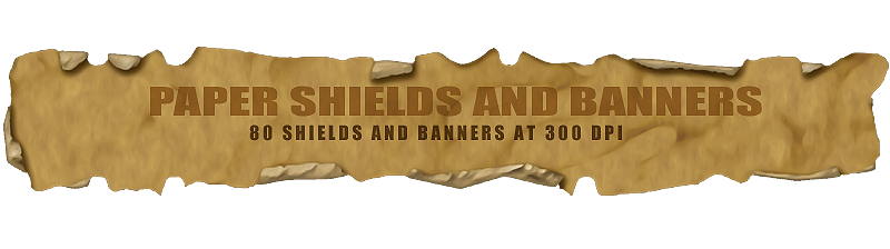 Paper banner png. Shields and banners designfera