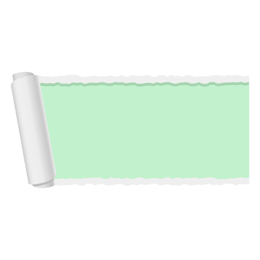 Paper banner png. Green ripped transparent svg