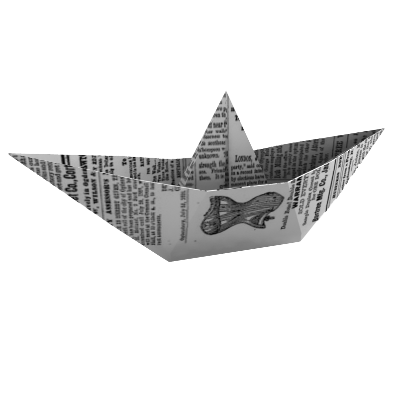 Paper boat png.