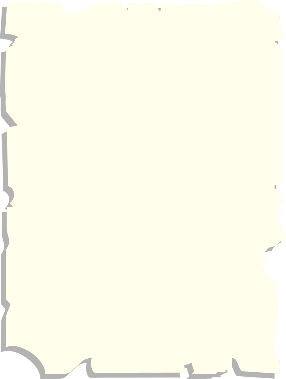 Torn note png. Border free stock photo