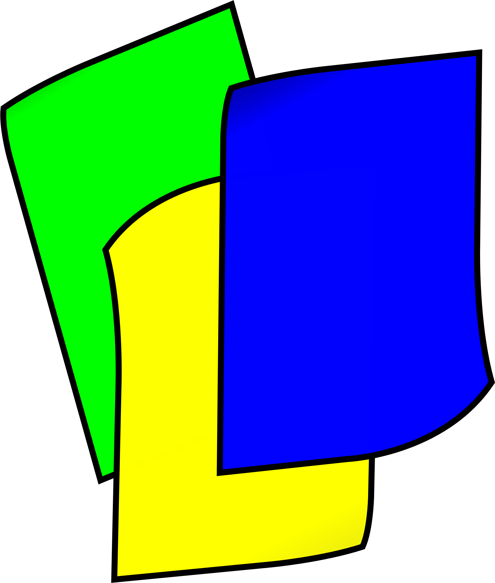 Color paper png. Clipart stack of colored