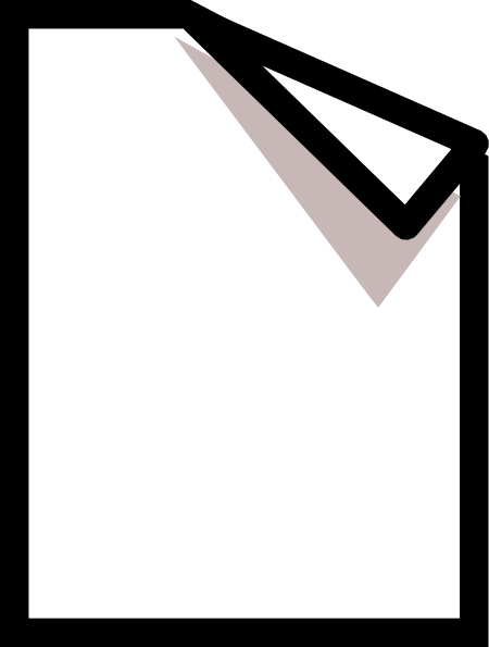 Paper clipart png. Folded