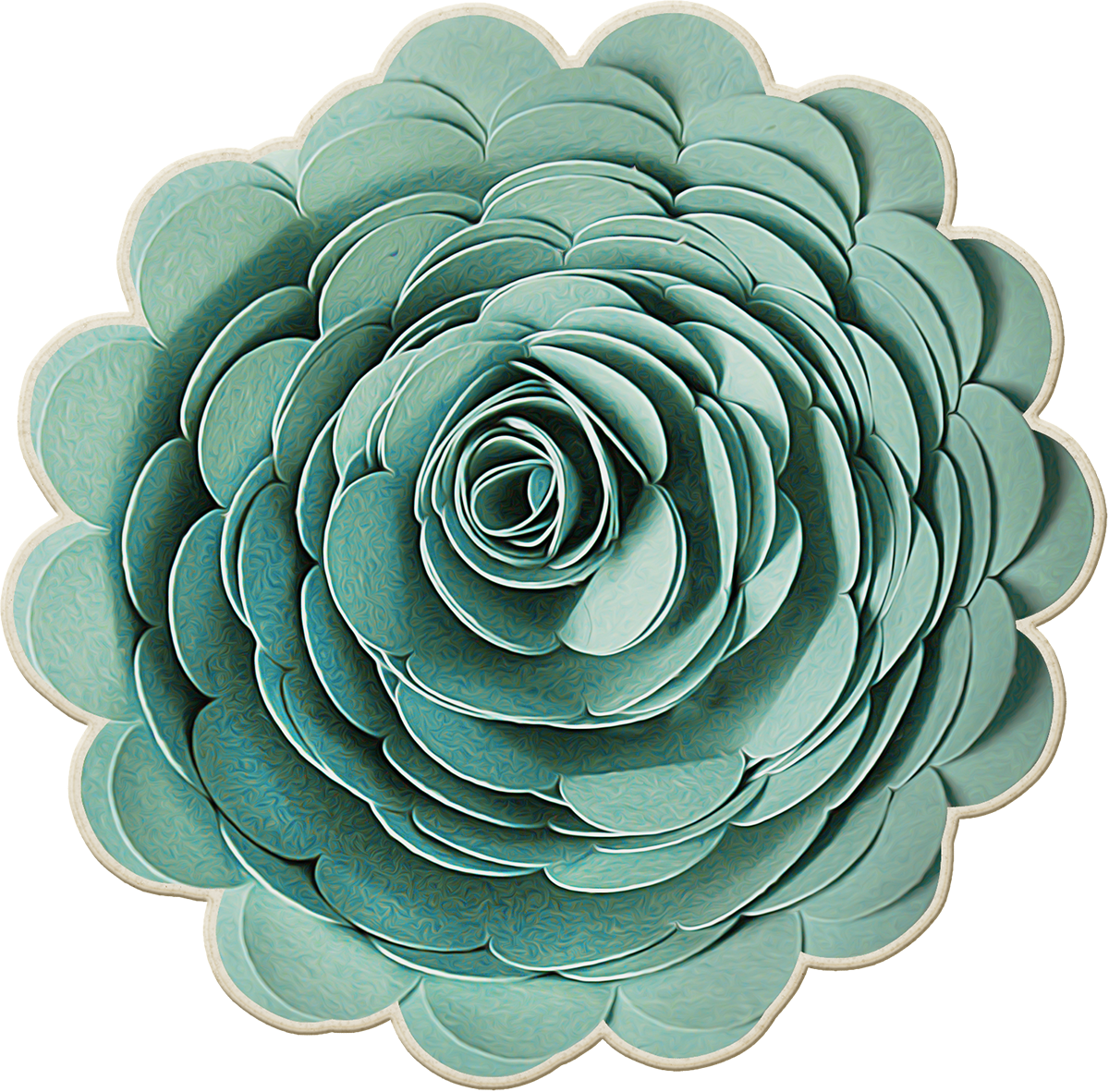 Paper flower png. Origami green flowers transprent