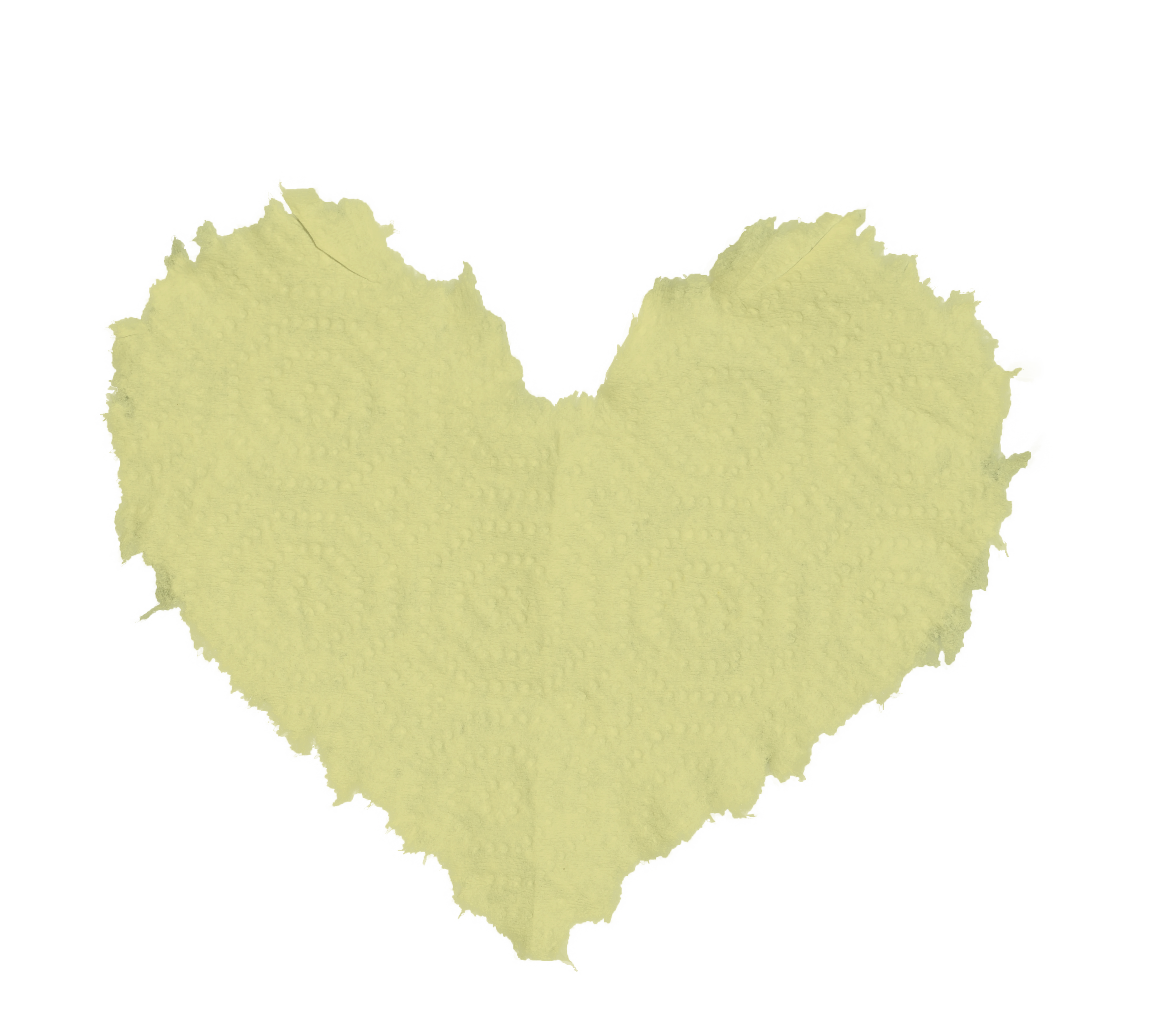 Paper heart png. Torn with texture psd