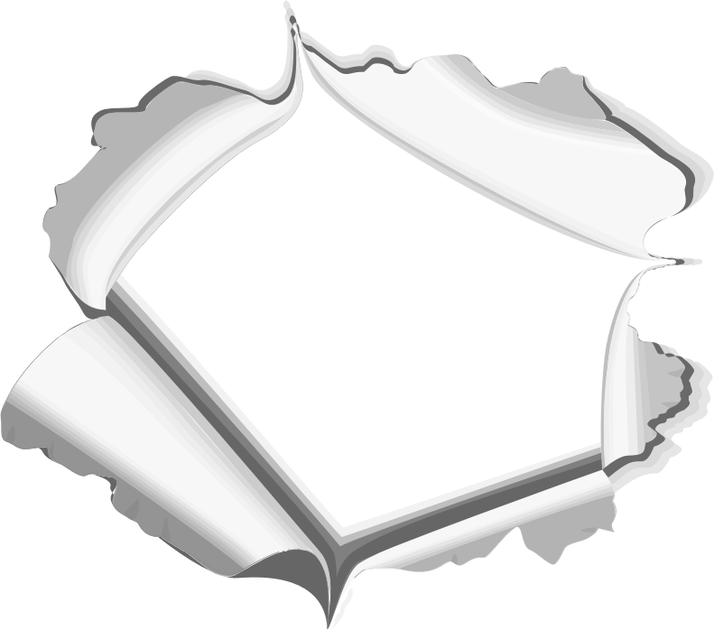 Paper hole png. Clipart torn page frame