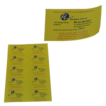 Paper label png. Custom printing by reads