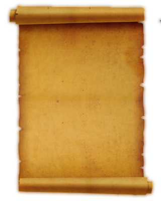 Vintage paper background png. Ancient letter roll transparent