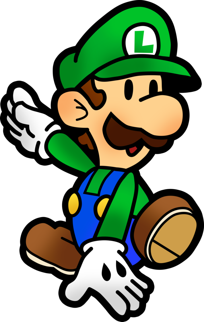 Paper luigi png. Mario and jam by