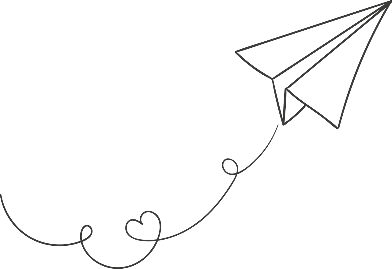 Drawing airplane. Paper plane png