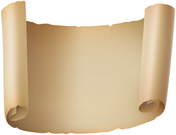 Paper scroll png. Scrolled clip art image