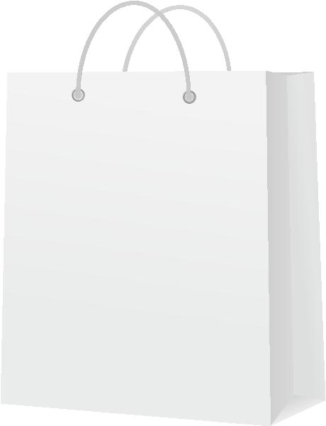Luggage vector white. Paper bag icon svg