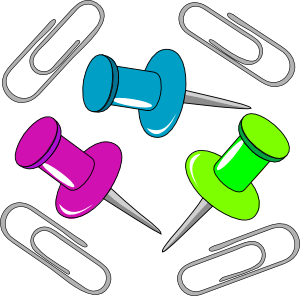 Paperclip clipart office supply. Puntine clip art at