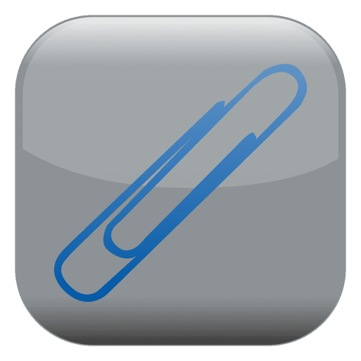 Paperclip vector blue. Square icon transparent png