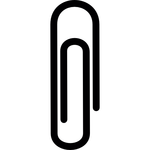 Paperclip vector transparent background. Paper clip drawing icon