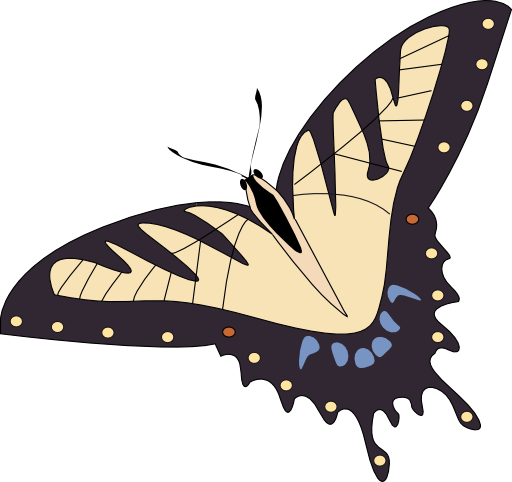 Papillon lumineux. Butterfly clipart i royalty