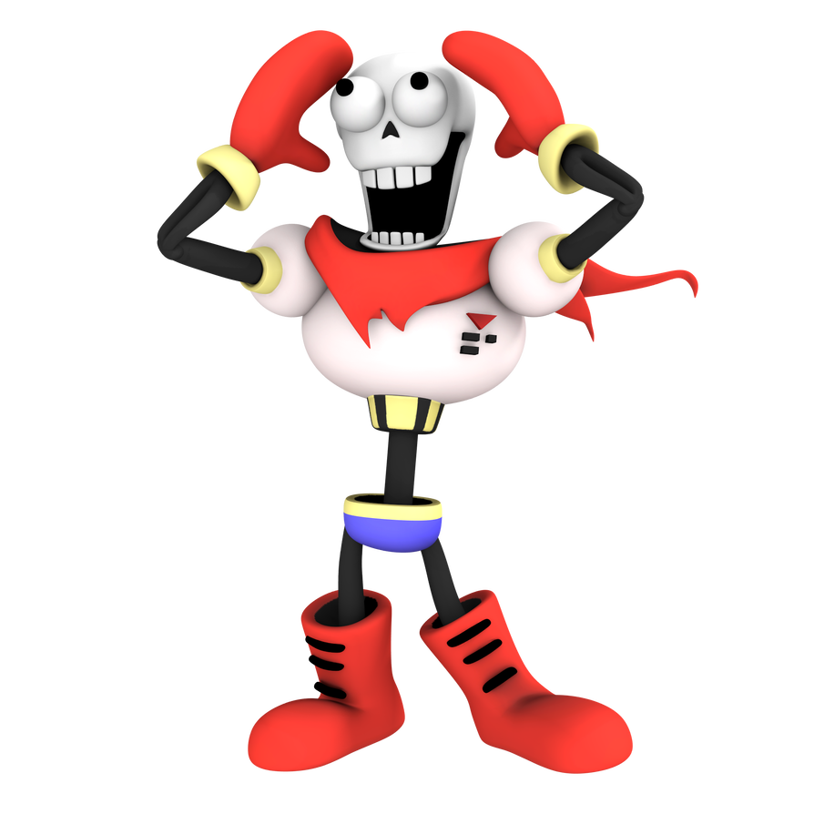 Papyrus face png. From undertale render by