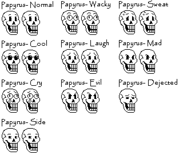 Papyrus face png. Custom talk sprites by
