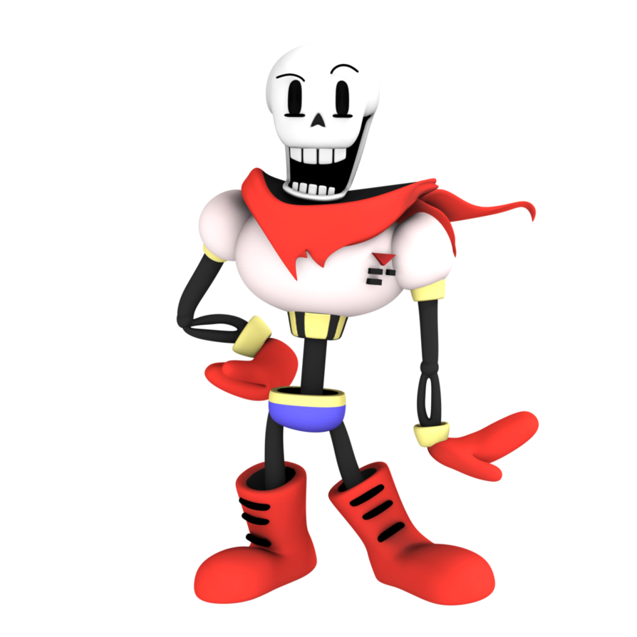 Papyrus undertale png. Image from render by