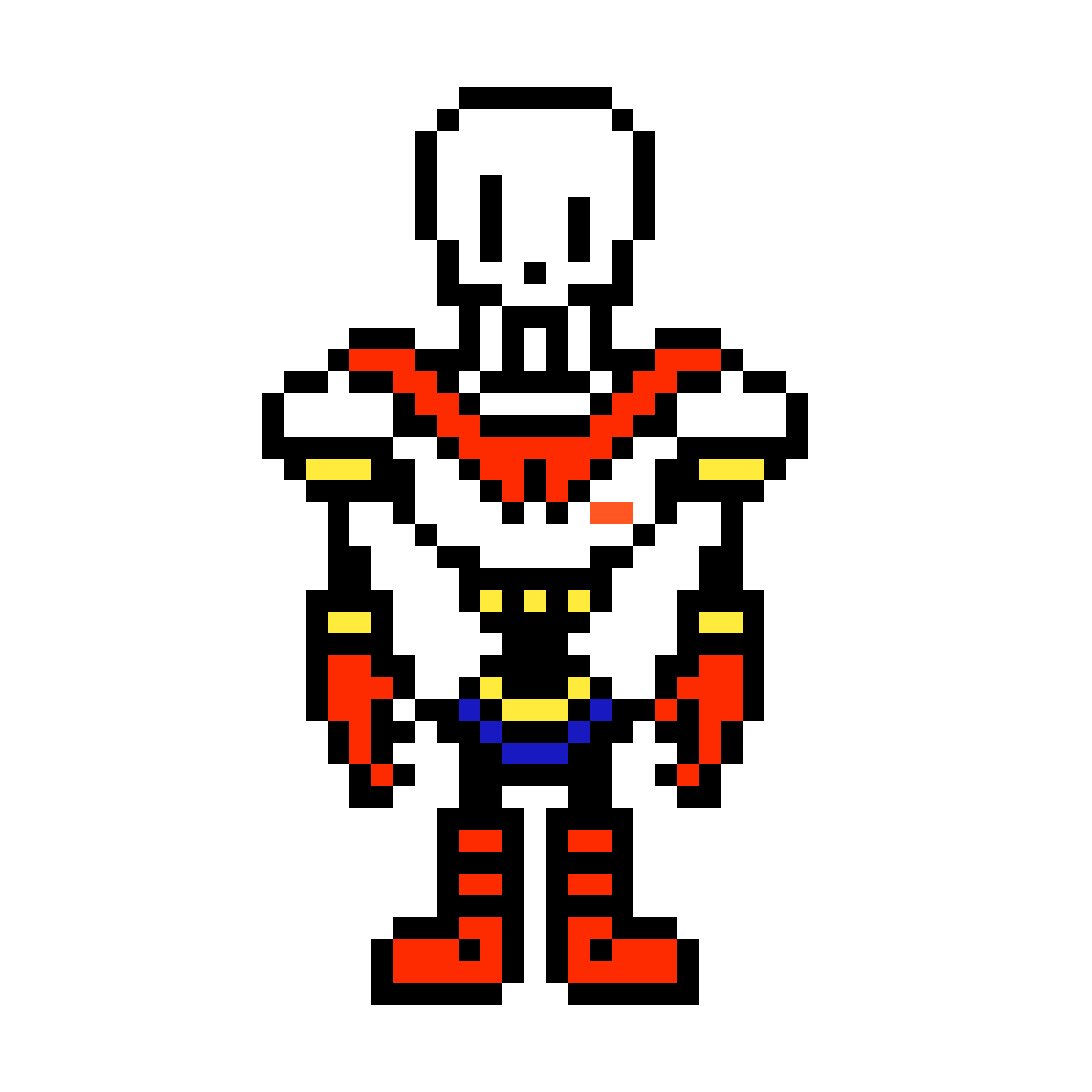 Papyrus sprite png. Pixilart overworld by luong