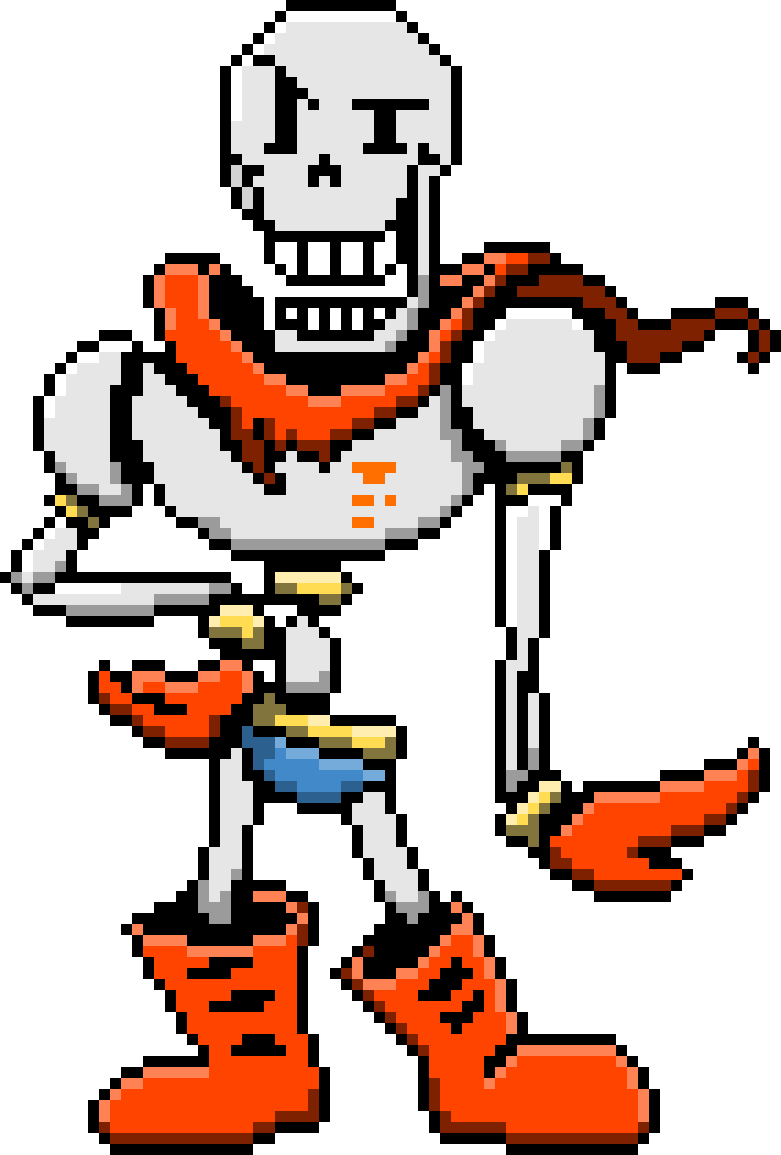 Papyrus sprite png. Pixilart colored battle by