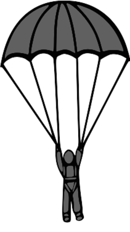 Parachute clipart air transport. Free parachuting cliparts download