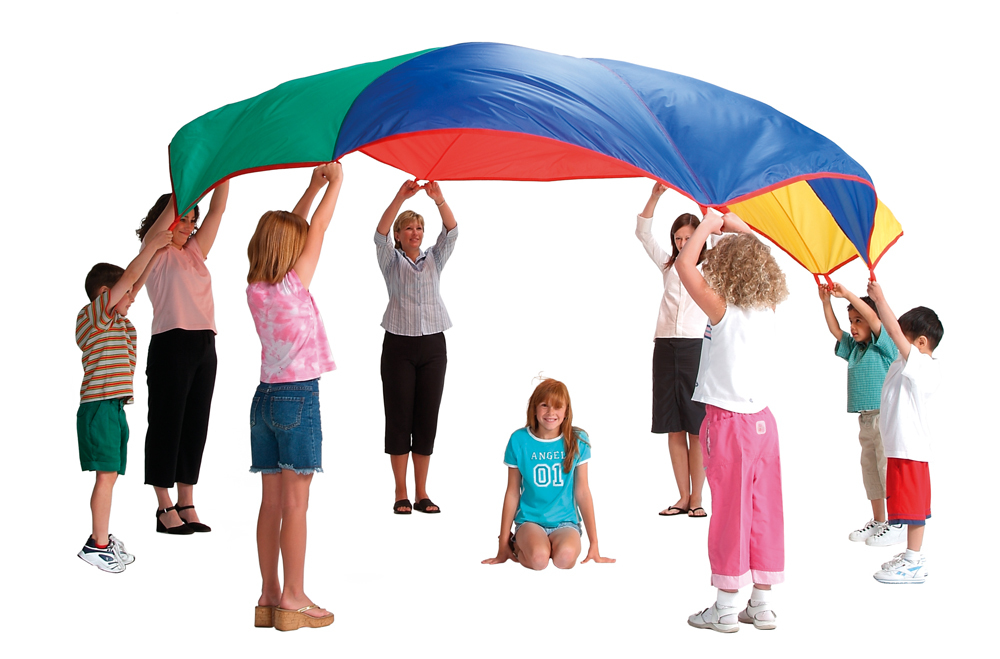Parachute clipart parachute game. Children of the s