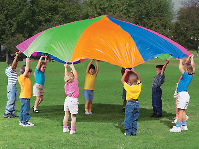Parachute clipart parachute play. Rainbow for kids diameter