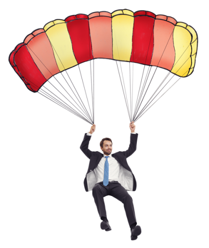 Parachute man png. Pixel and print your