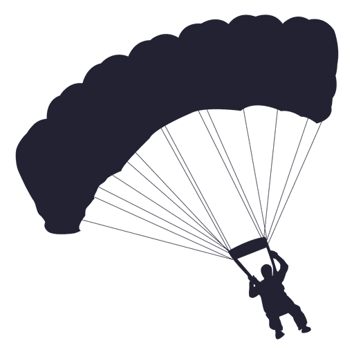 Parachute man png. Transparent or svg to