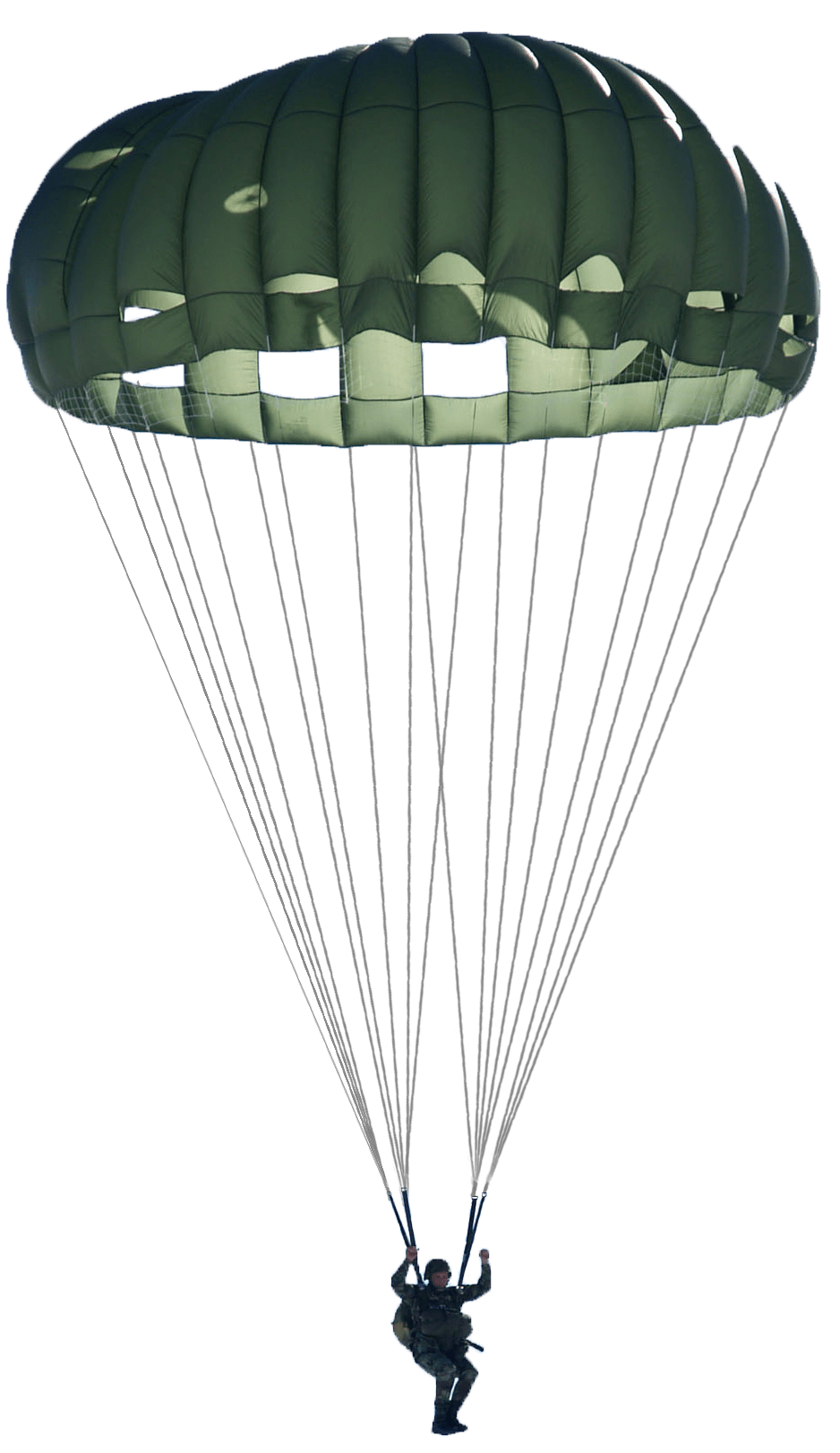 Parachute png. Green military transparent stickpng