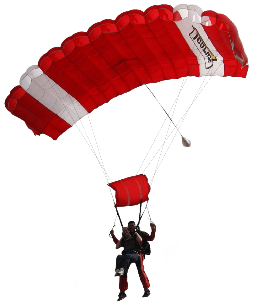 Parachute png. Red and white transparent