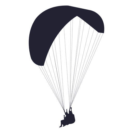 Parachute transparent png. Glider silhouette svg vector