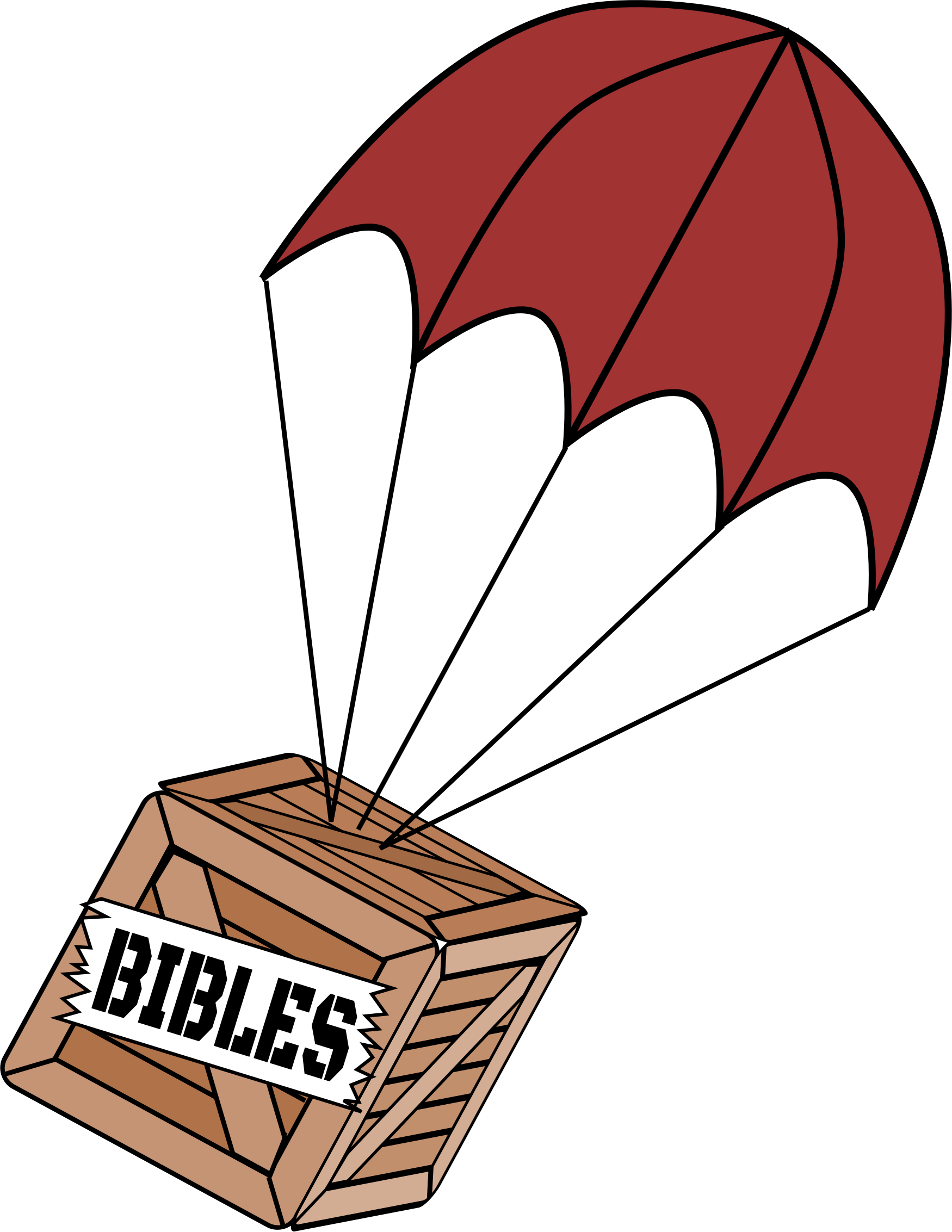 Parachute vector png. On box of bibles