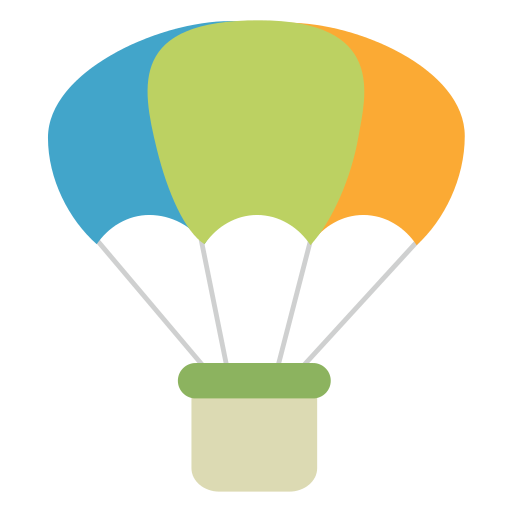 Parachute vector png. Icon myiconfinder hot air