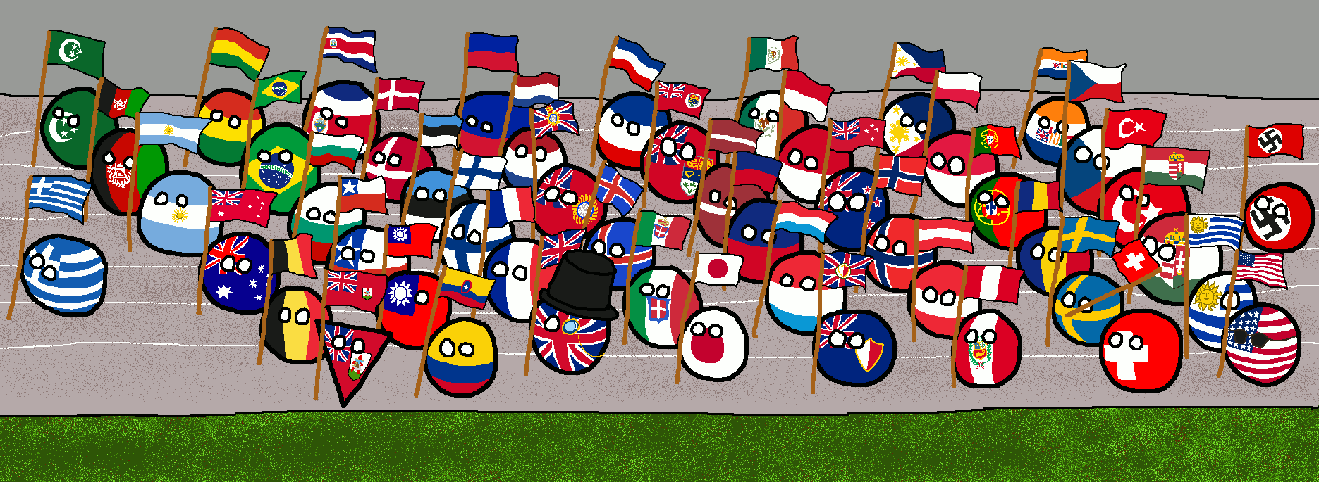 Parade clipart nations. Of at the summer
