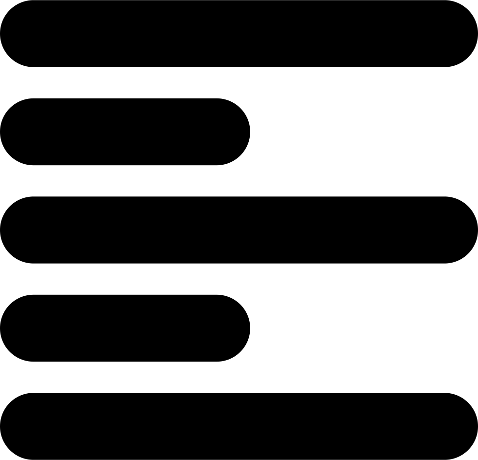 Paragraph vector icon. Left alignment symbol for