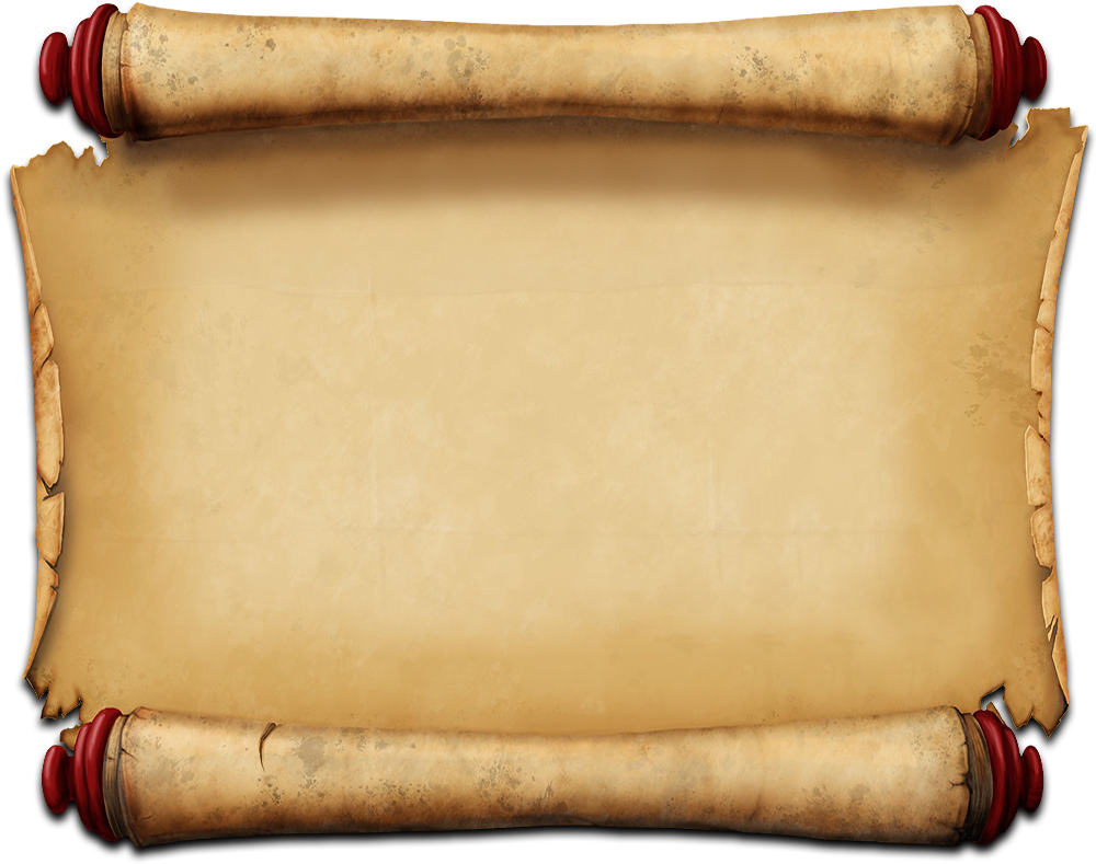 Parchment png. Download scroll banner library