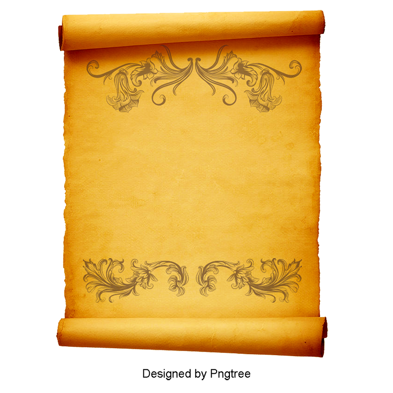 Parchment paper png. Old vector and psd
