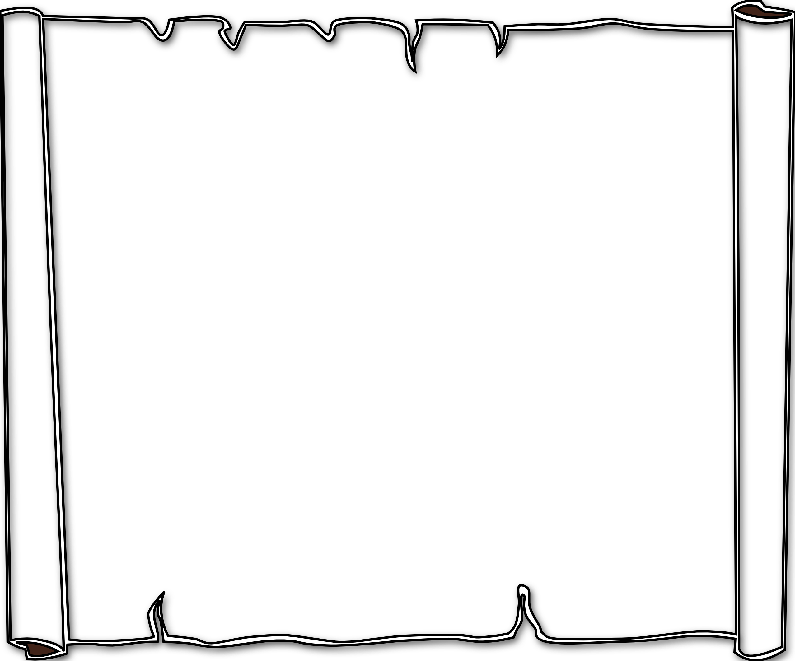 Parchment border png. Background or black white