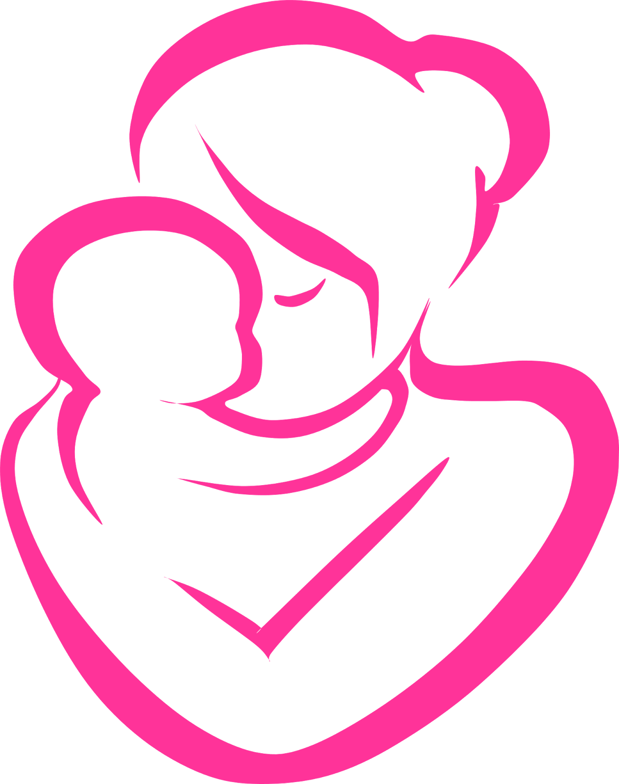 Parent and child png clipart. Mother at getdrawings com