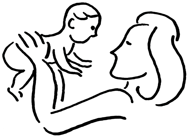 A perfect world clip. Mother clipart kid png black and white stock