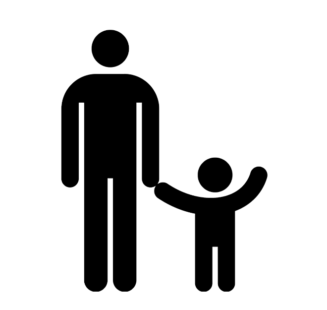 Parents with children png. Father symbol child transprent