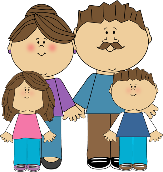 And children clip art. Parents clipart 3 person clipart library stock