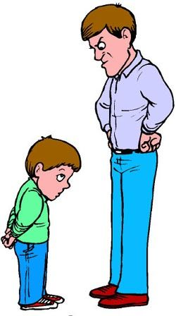 Authoritarian angry father scolding. Parents clipart mad parent svg library stock