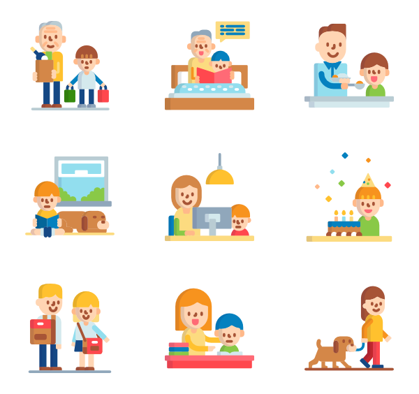 Icons free vector family. Parents clipart mad parent image freeuse download