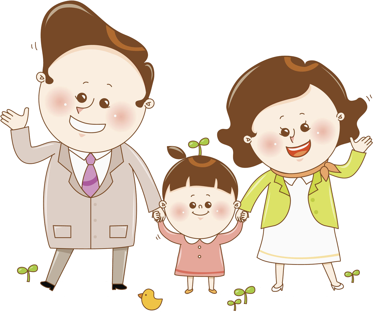 Parent child and kiss. Parents clipart mother father jpg freeuse library