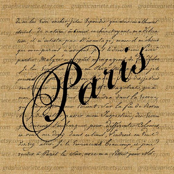 Paris clipart fancy writing. French script stencils word
